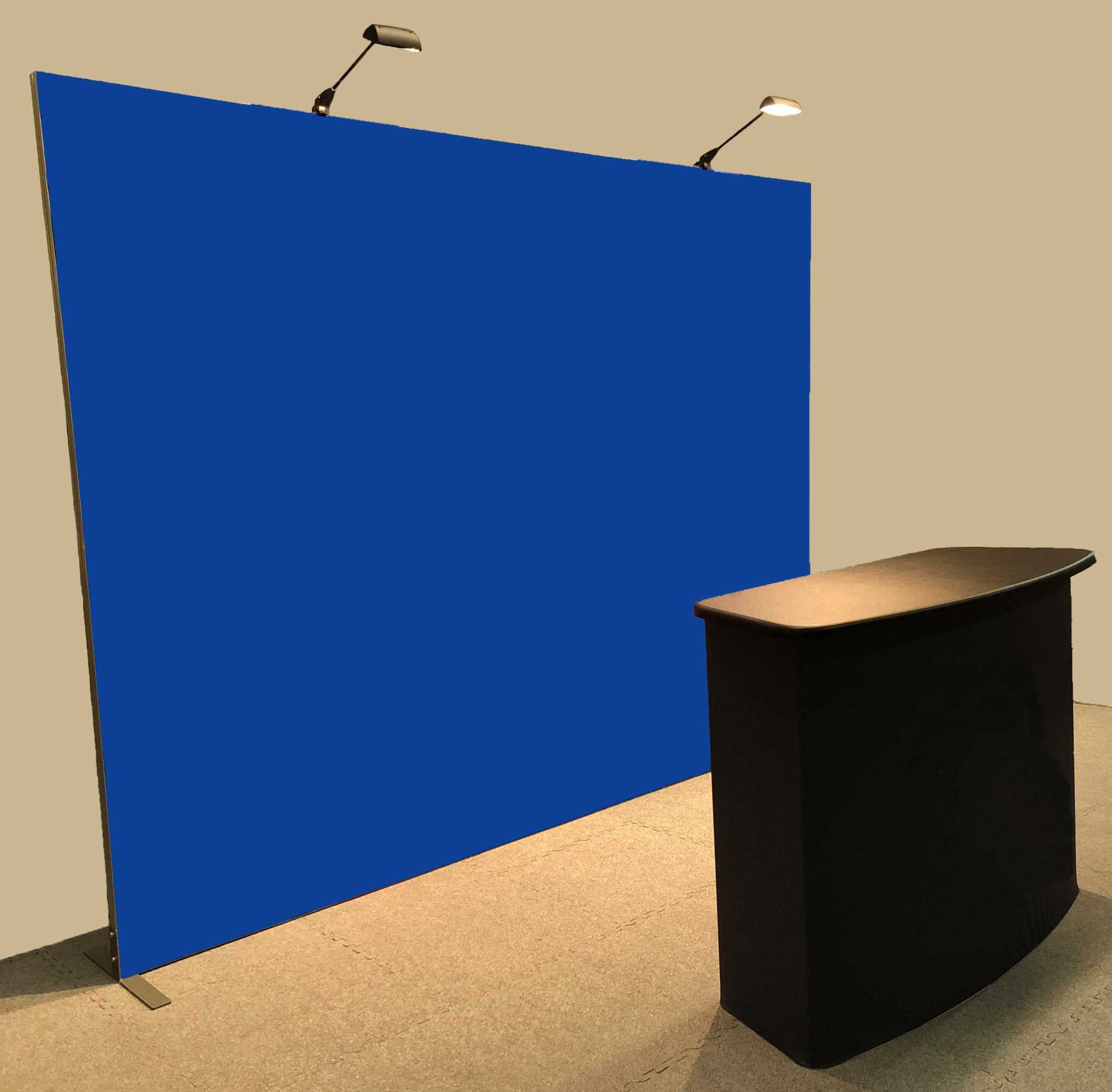 10-ft Vector Frame push-fit fabric display with custom graphic