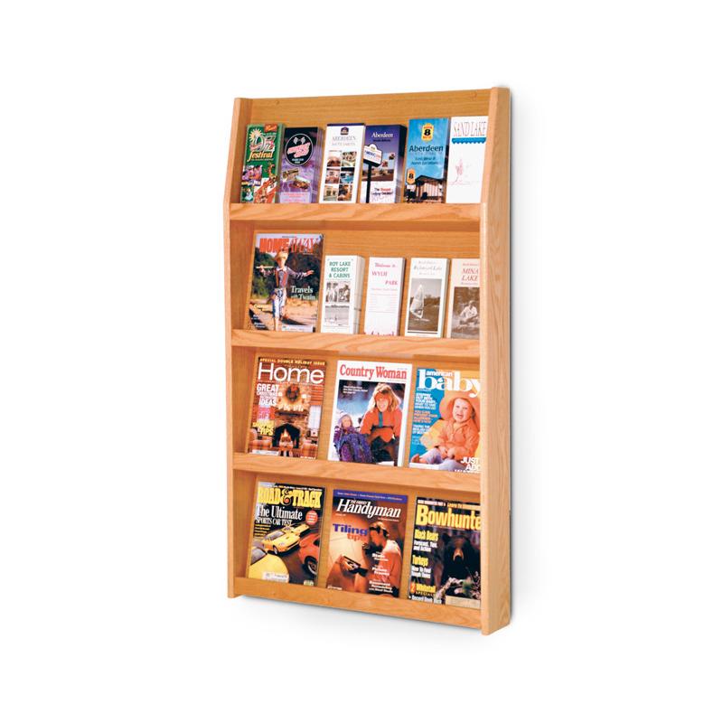 wall-mounted literature display rack