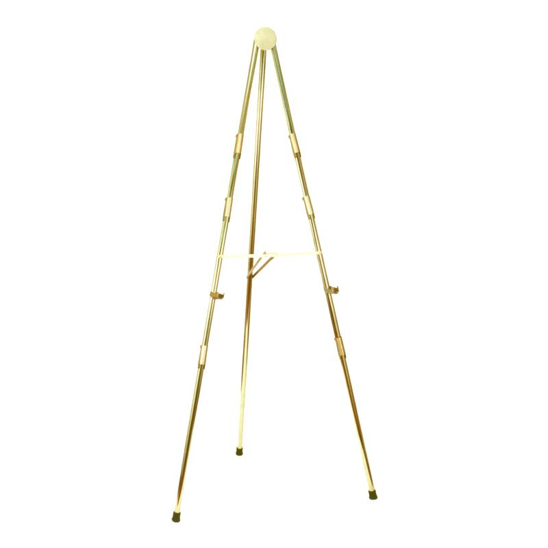 brass 6-foot easel
