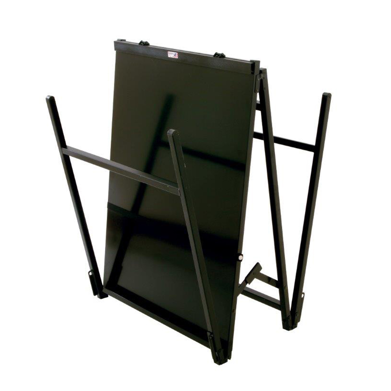 black a-frame folding easel