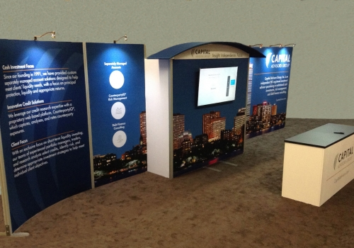 10x30 custom modular trade show display