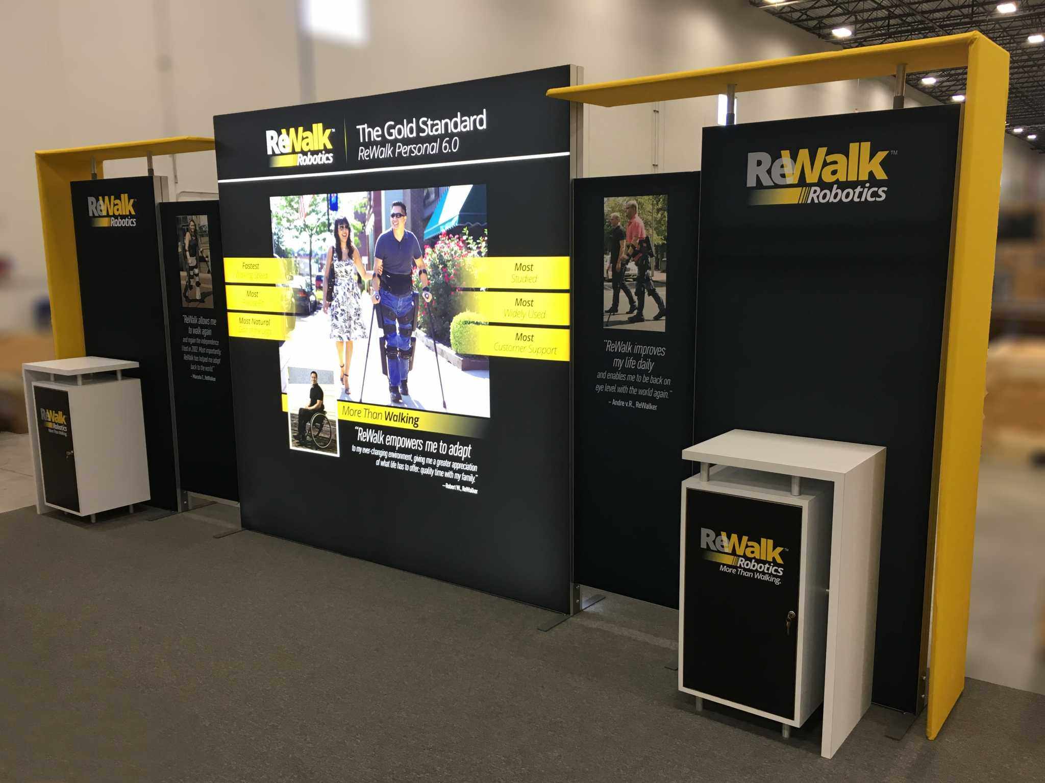 Nimlok Portable Exhibition Stand : Modular & portable exhibits tension fabric displays backlit booths