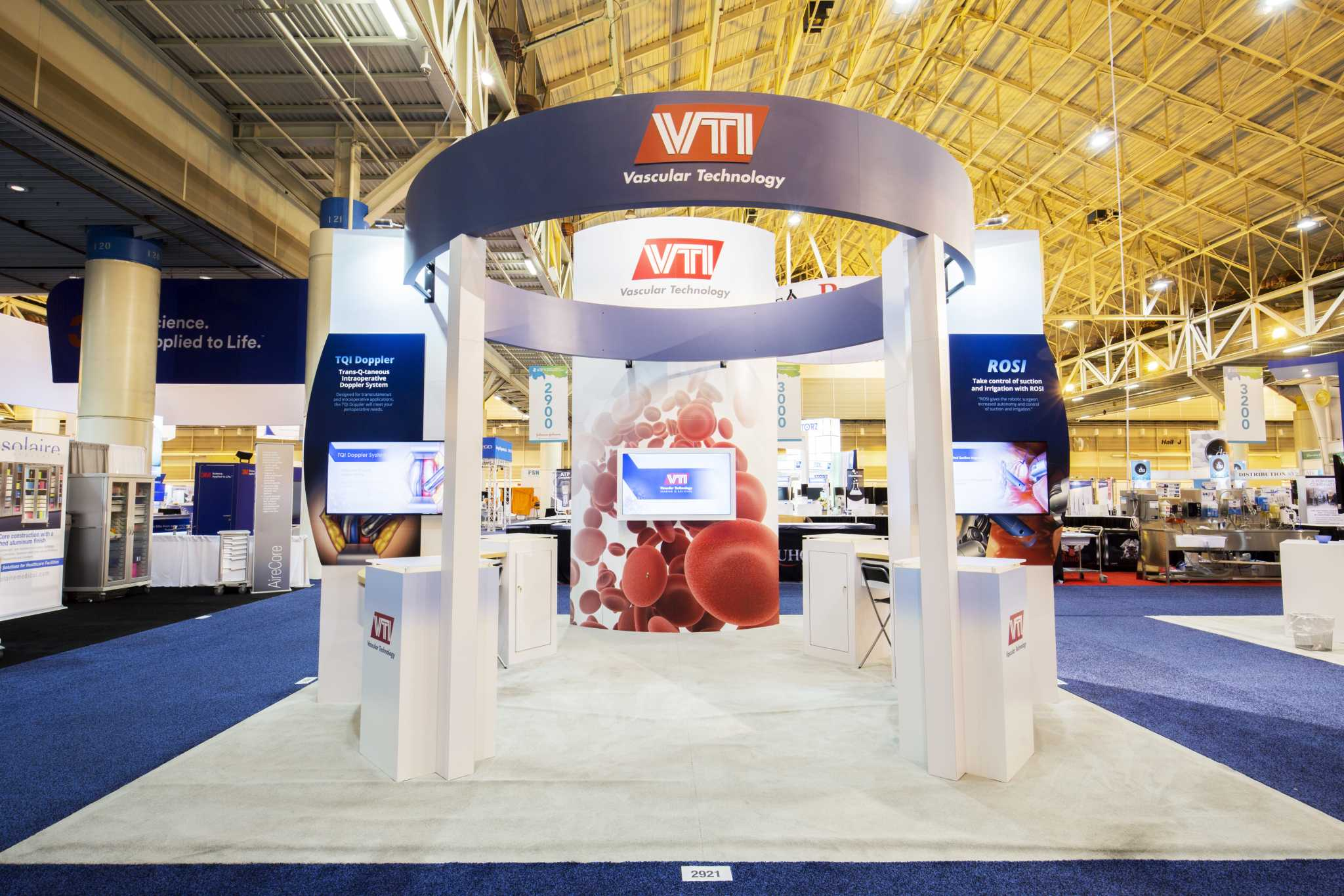 Vascular Technology 20' x 20' island booth