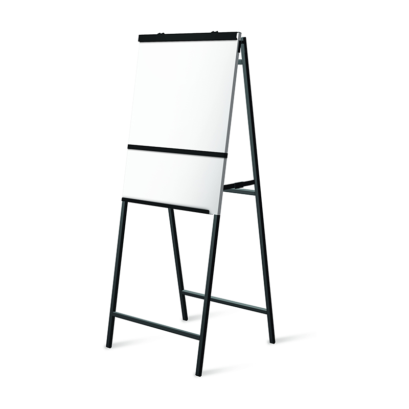 a-frame flipchart easel with whiteboard