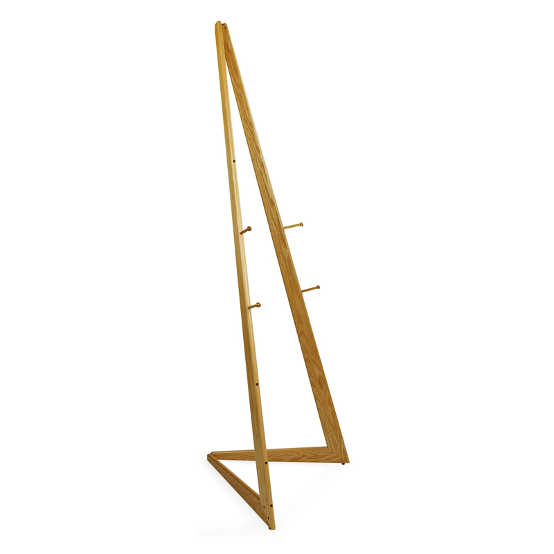 6' bifold wood easel with natural oak finish